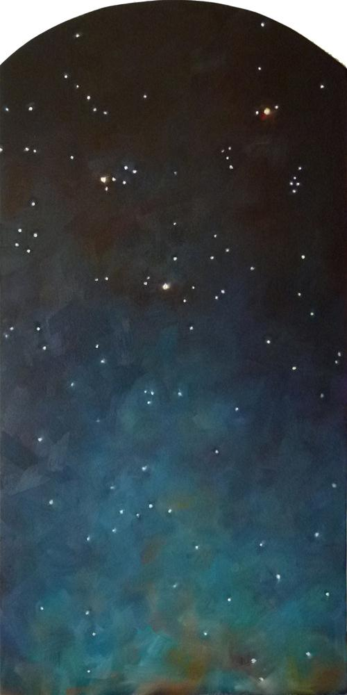 """Summer Triangle of Stars"" original fine art by Deb Anderson"