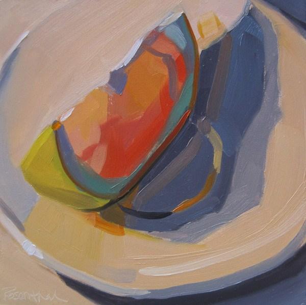 """Grapefruit Slice"" original fine art by Robin Rosenthal"