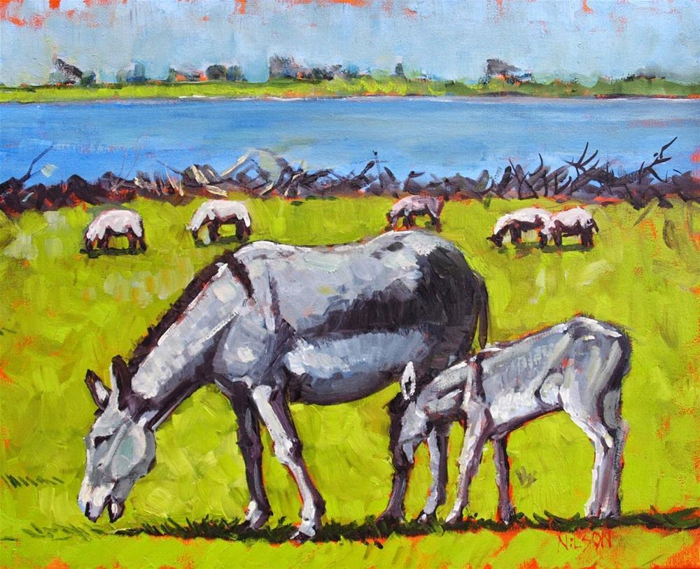 """Green Pastures"" original fine art by Rick Nilson"