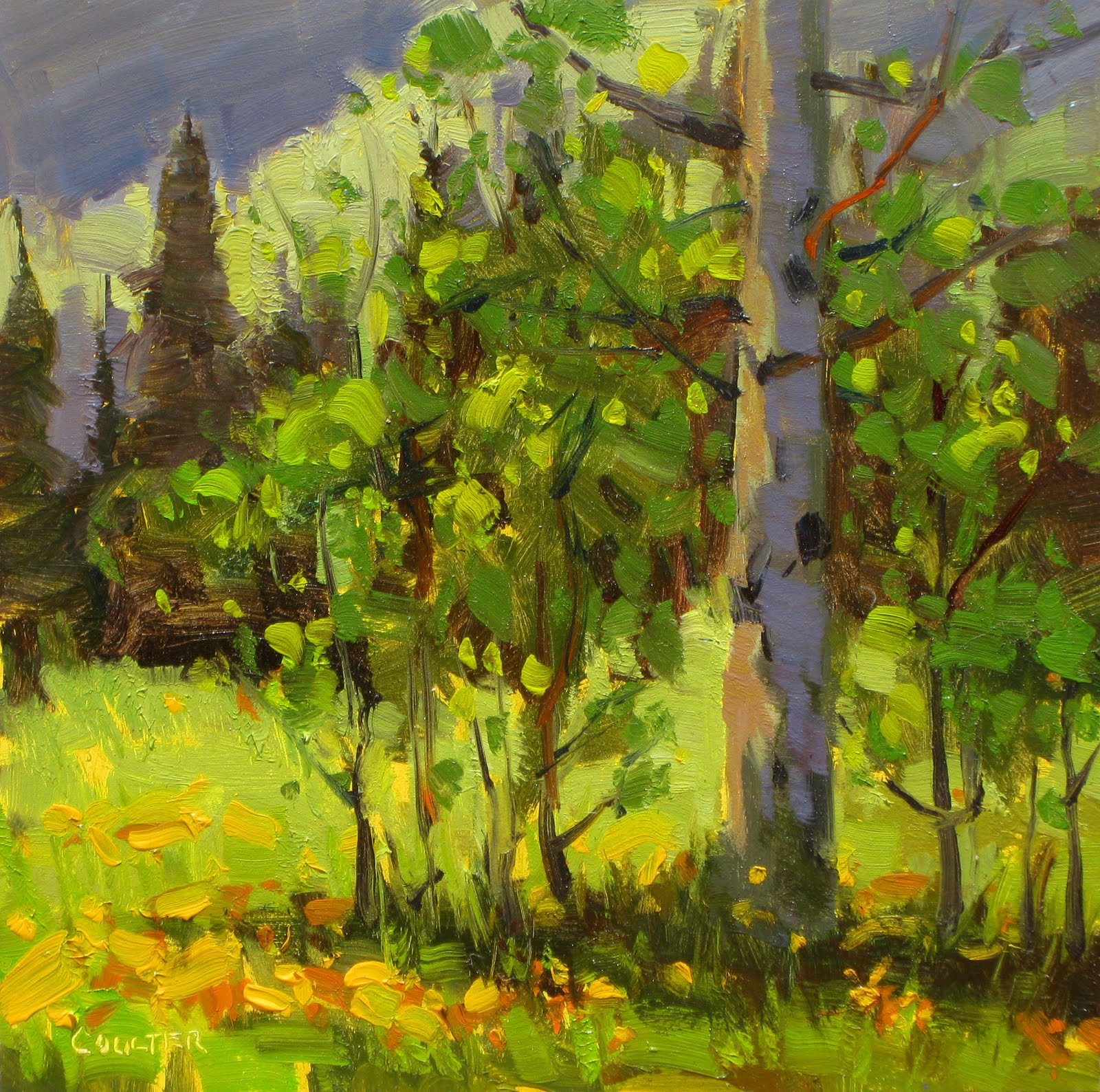 """ASPEN SHADE"" original fine art by James Coulter"