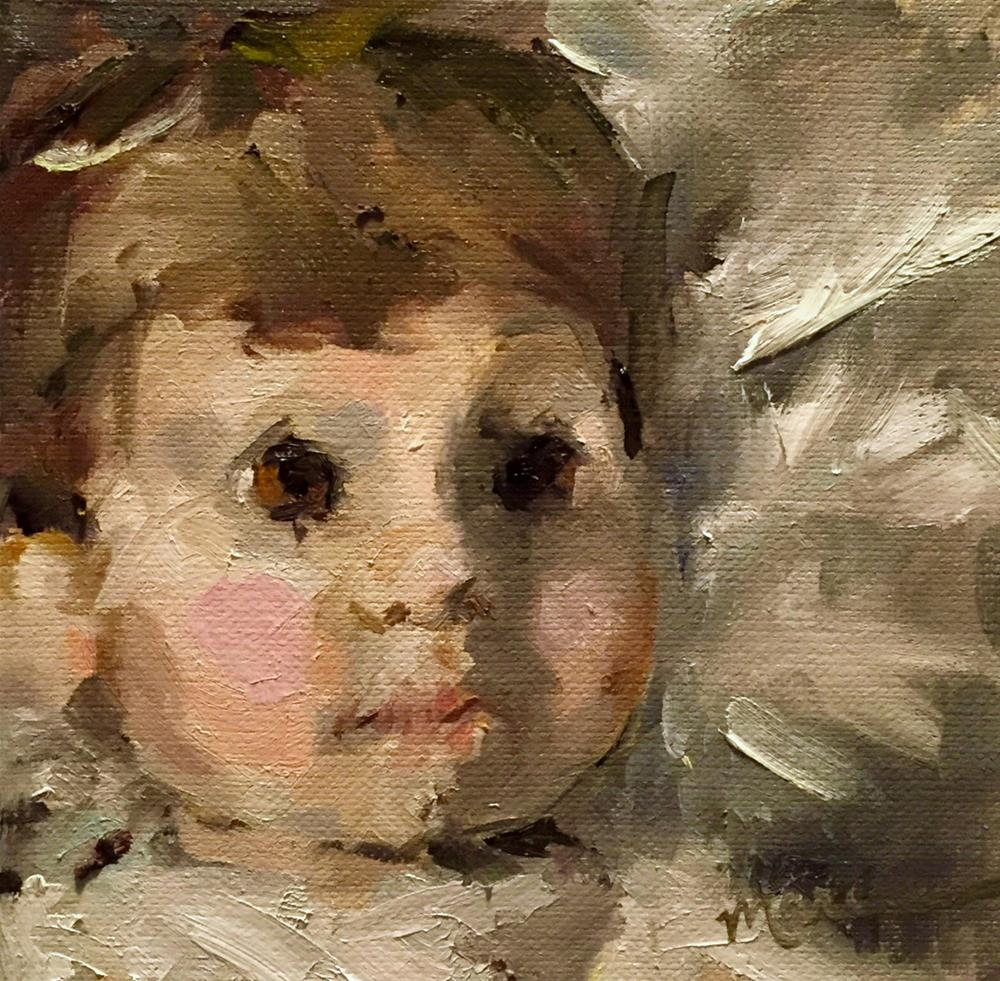 """Little Angel Boy"" original fine art by Marcia Hodges"
