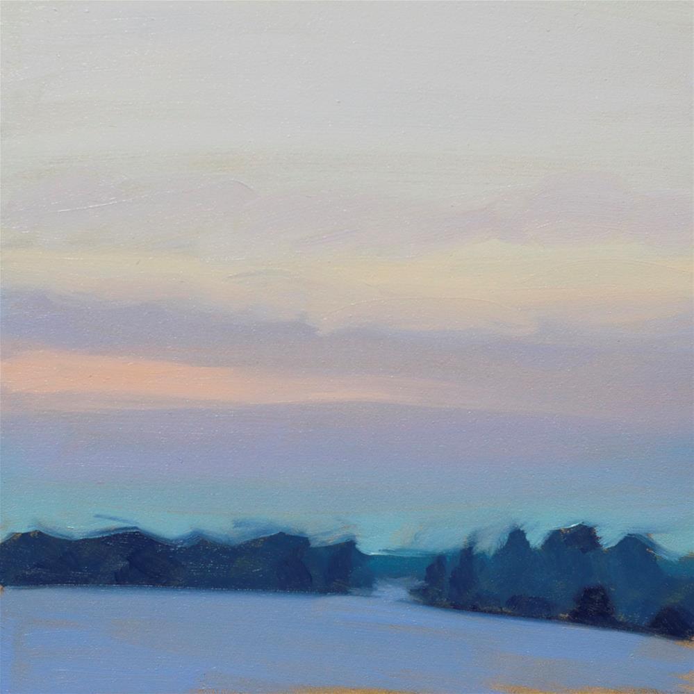 """Winter Sunrise"" original fine art by Heather Bullach"
