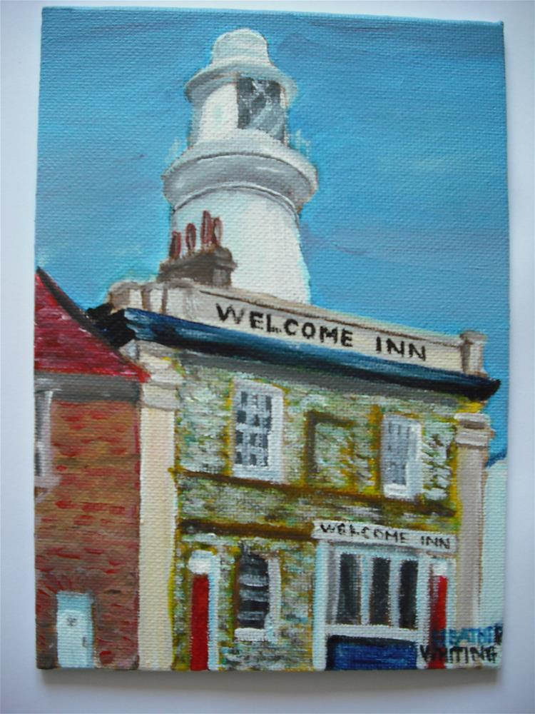"""Welcome Inn"" original fine art by Heather Whiting"