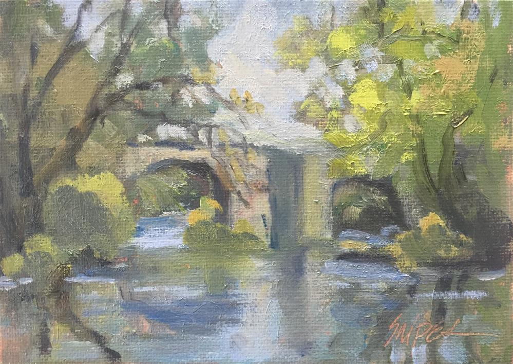 """The River Bridge"" original fine art by Connie Snipes"