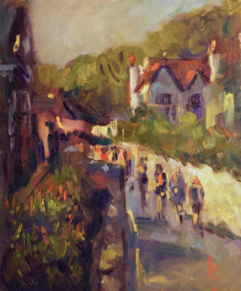 """Road to Lulworth Cove"" original fine art by Andre Pallat"