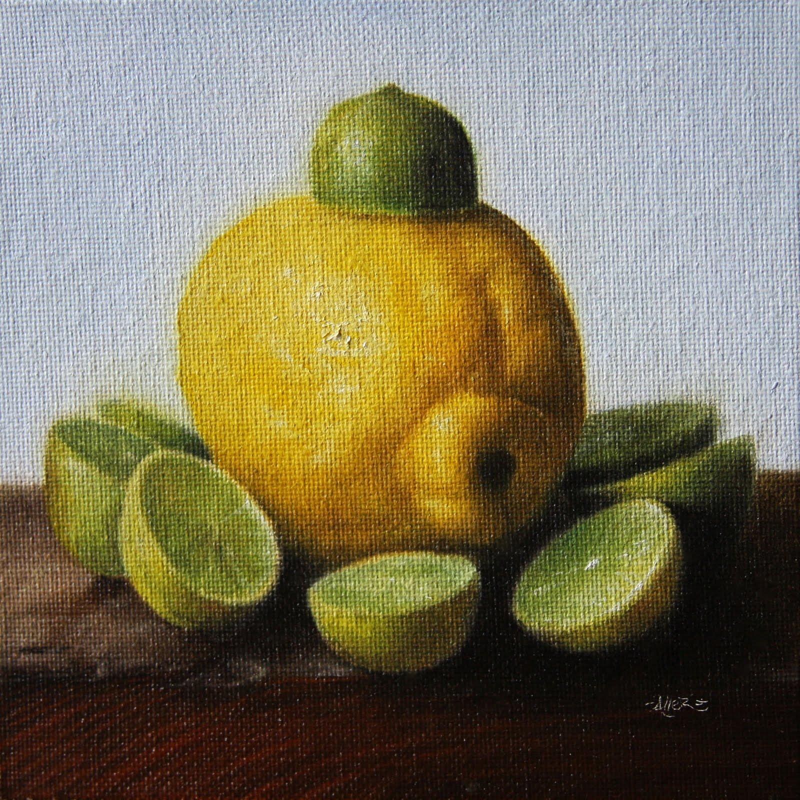 """""""King Lemon"""" original fine art by Jonathan Aller"""