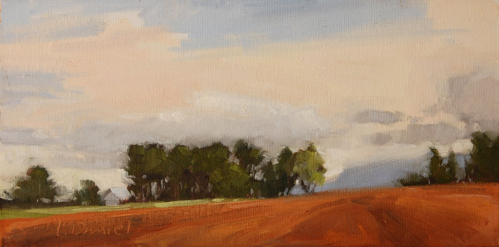 """Farmer's Field - Adirondack Trip (last)"" original fine art by Laurel Daniel"