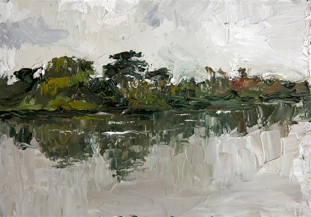 """River Trees"" original fine art by Jethro Knight"