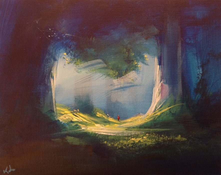 """And Through the Woods"" original fine art by David Kuhn"