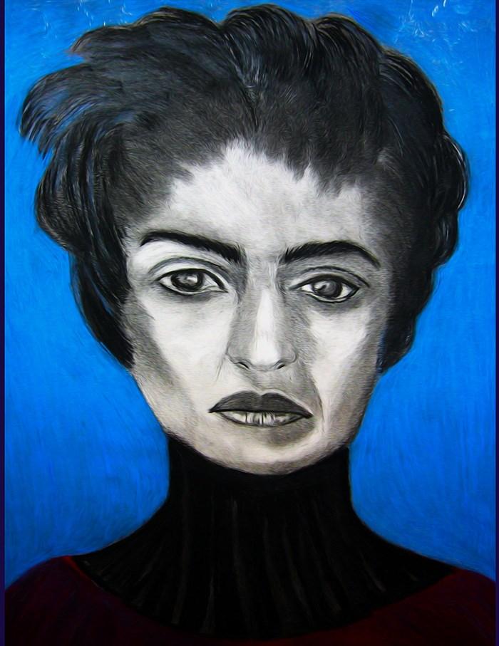 """""""Frida's Blue Period"""" original fine art by Terri Brown-Davidson"""
