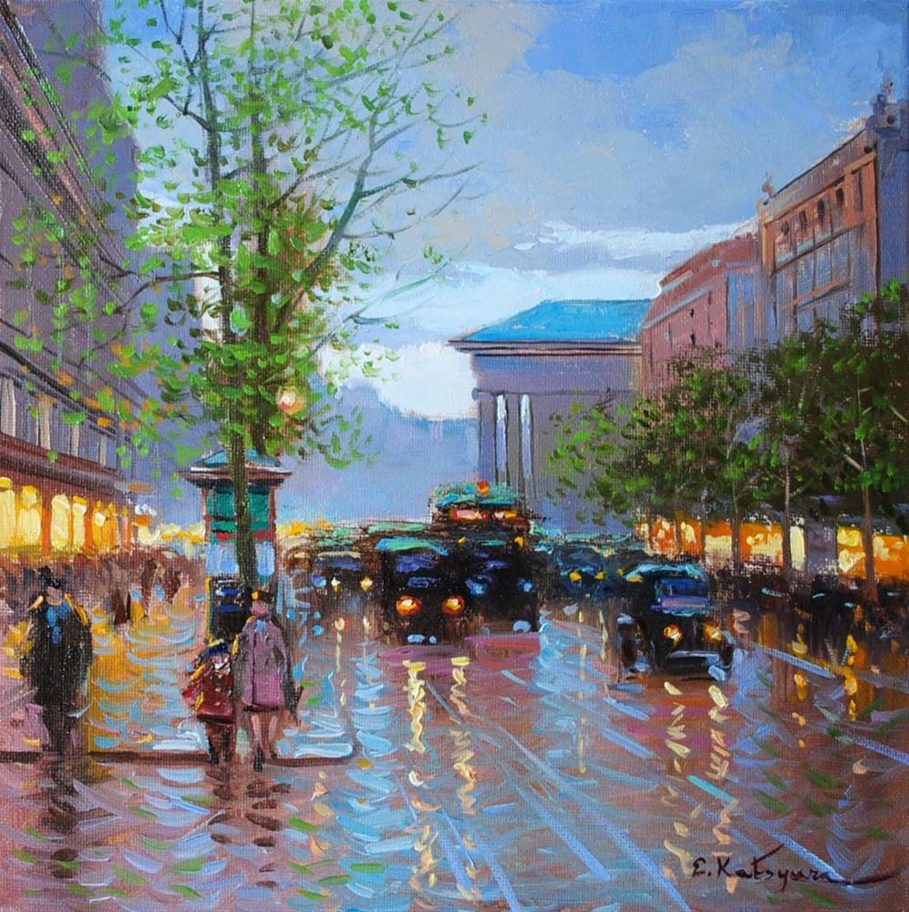 """Paris Memories"" original fine art by Elena Katsyura"