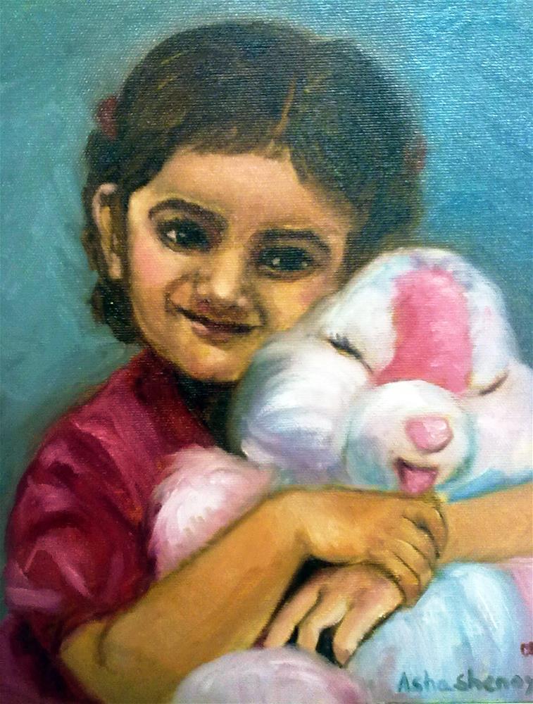 """Little girl"" original fine art by Asha Shenoy S"