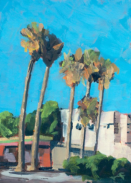 """Grand Avenue"" original fine art by J. Farnsworth"