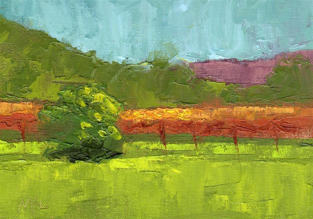 """""""Sunlit Fields"""" original fine art by Marlene Lee"""