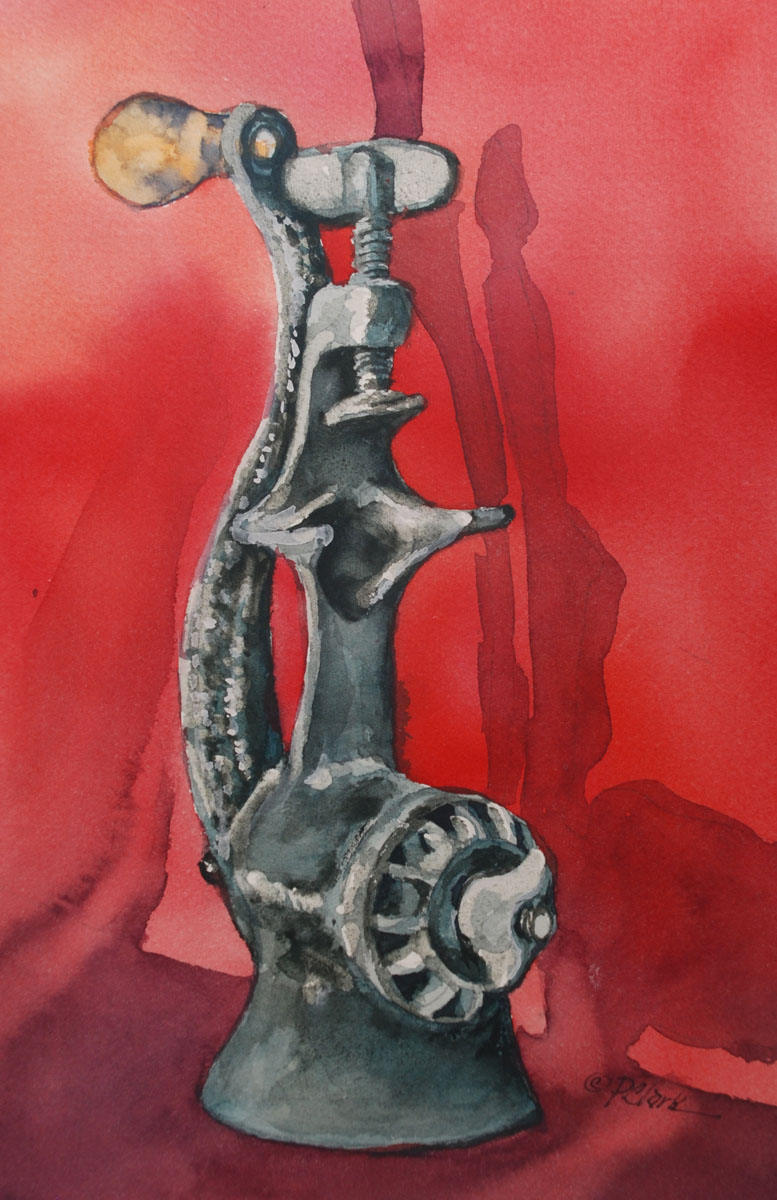"""Antique Meat Grinder"" original fine art by Donna Pierce-Clark"