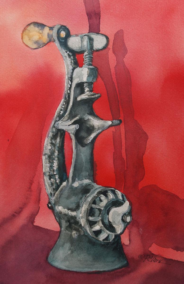 Antique Meat Grinder original fine art by Donna Pierce-Clark