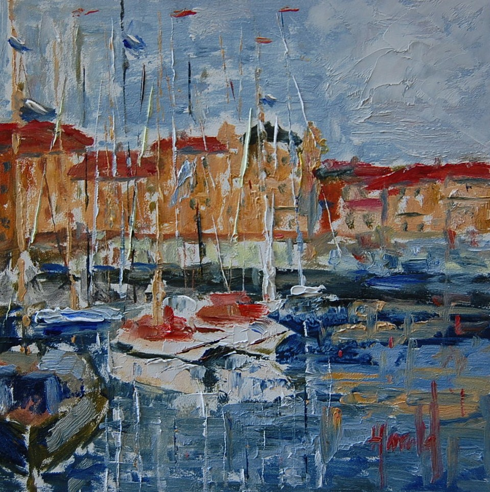 """Europe Harbor Side"" original fine art by Deborah Harold"