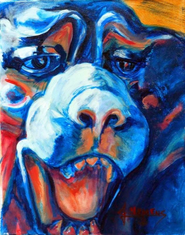 """Gargoyle 1"" original fine art by Jolynn Clemens"