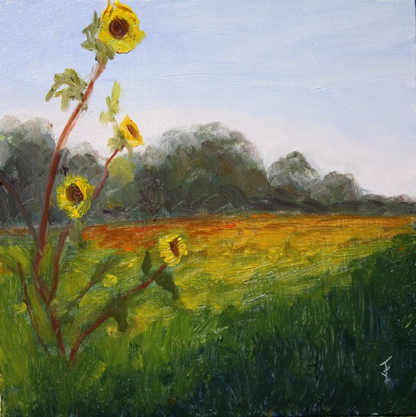 """Striving for the Sun"" original fine art by Jane Frederick"