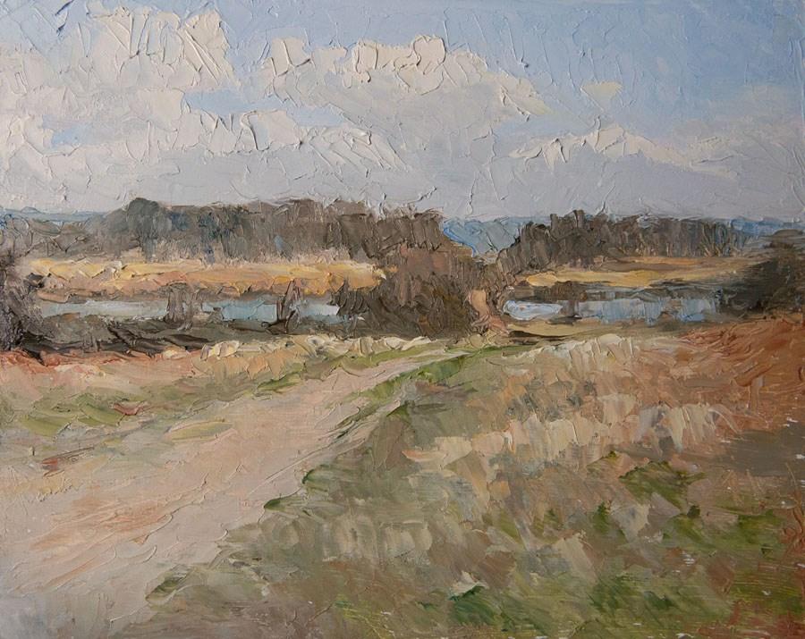 """Ponds View"" original fine art by Jethro Knight"