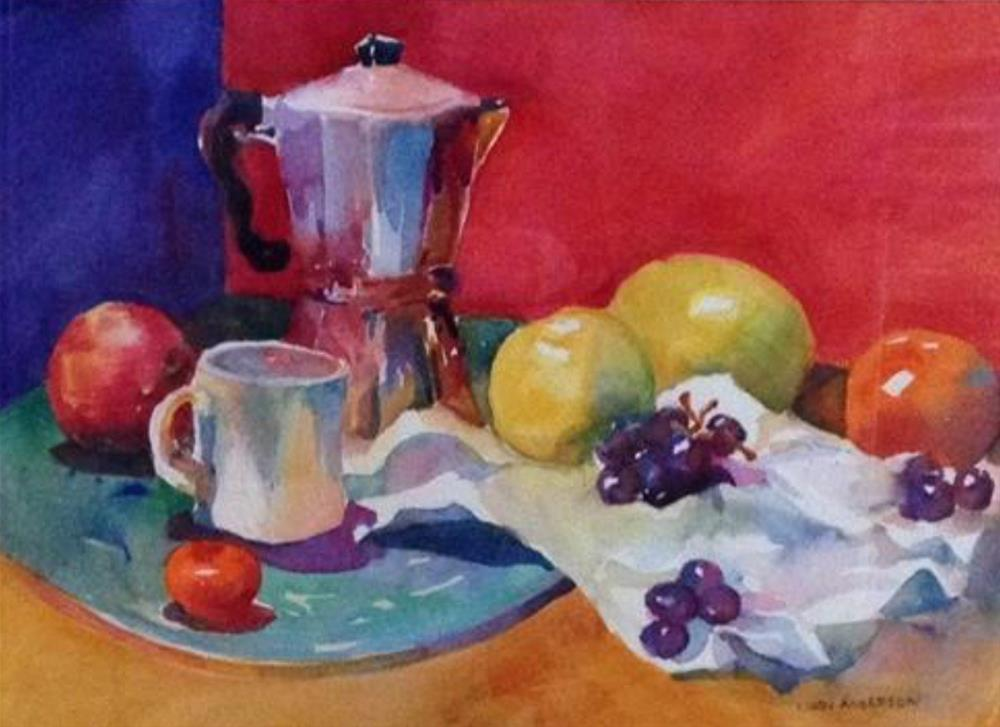 """Morning Coffee"" original fine art by Libby Anderson"