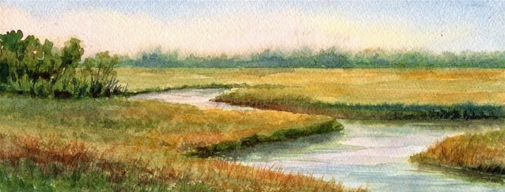 """Marsh Maze - January Studio Sale"" original fine art by Vikki Bouffard"