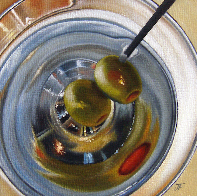 """Cocktail Study: Martini"" original fine art by Jelaine Faunce"