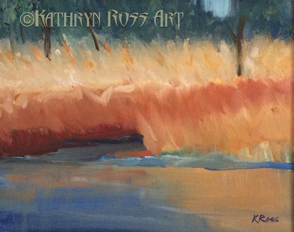"""Water reflections"" original fine art by Kathryn Ross"