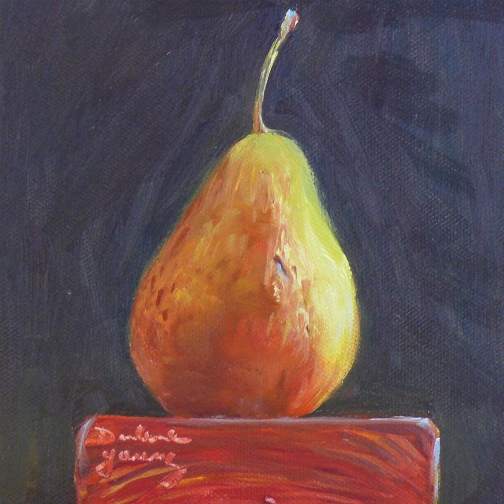 """Pear"" original fine art by Darlene Young"