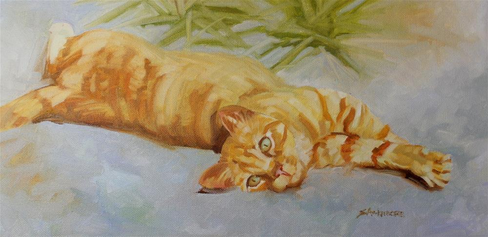 """Pounce"" original fine art by Susan Ashmore"