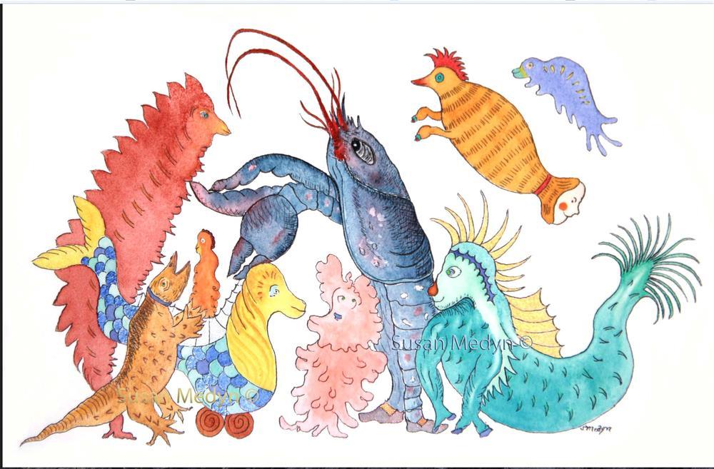 """Quadrille Lessons"" original fine art by Susan Medyn"