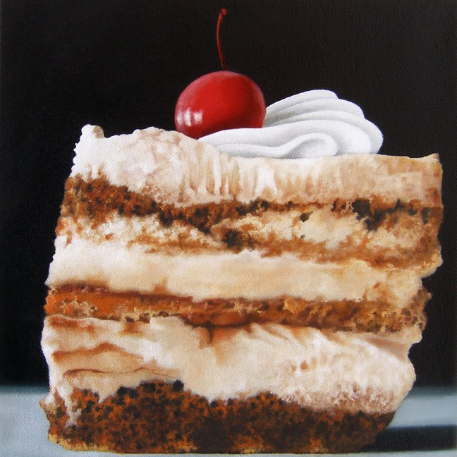 """Tiramisu Cake"" original fine art by Jelaine Faunce"