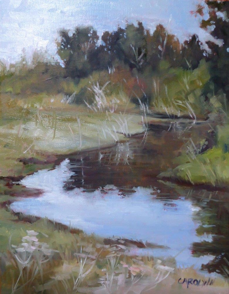 """The Fen - Crescent Beach"" original fine art by Carolynn Doan"