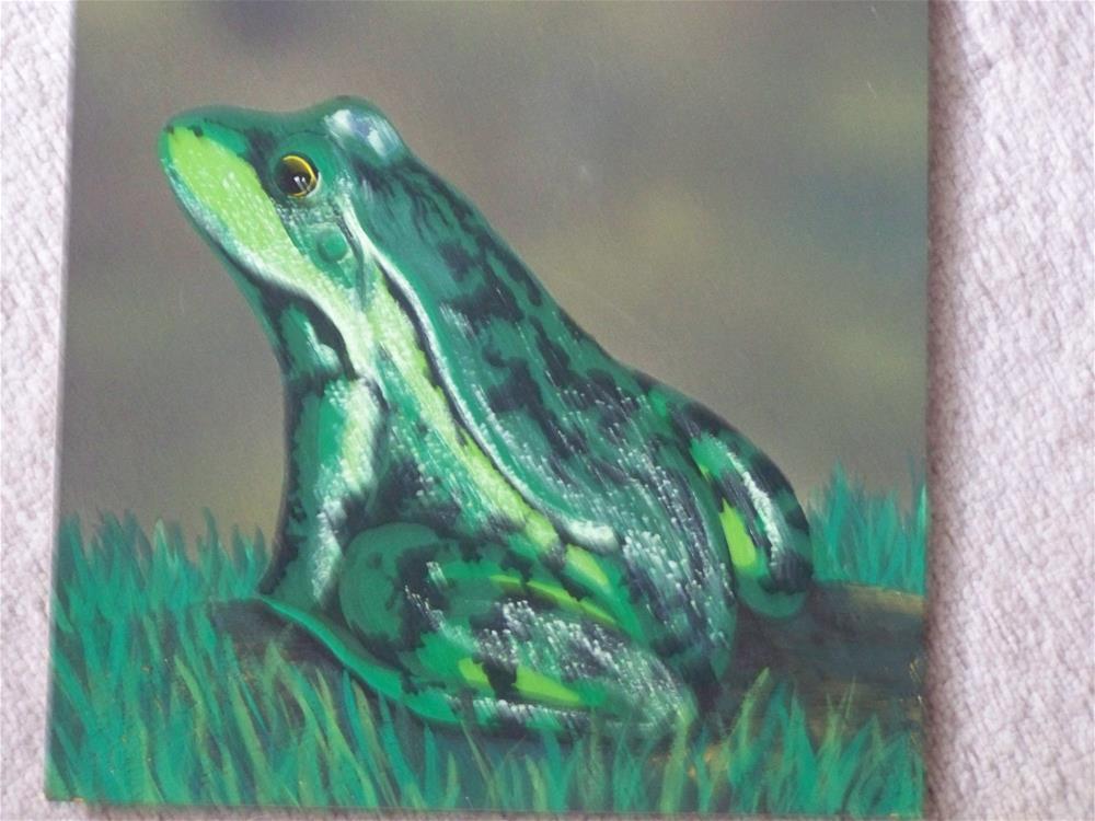 """Frog in the Mist"" original fine art by Elaine Shortall"