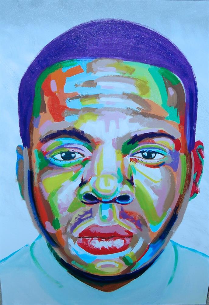"""""""Jay-z (color contact 8)"""" original fine art by michael vigneux"""