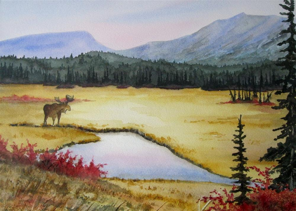 """Moose Meadow"" original fine art by Horst Berlow"