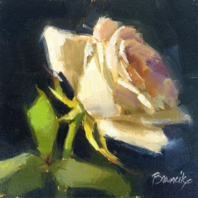 """Rose Study 2"" original fine art by Candace Brancik"