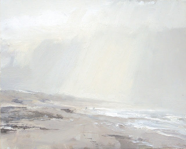 """Seascape winter #19 Open space"" original fine art by Roos Schuring"