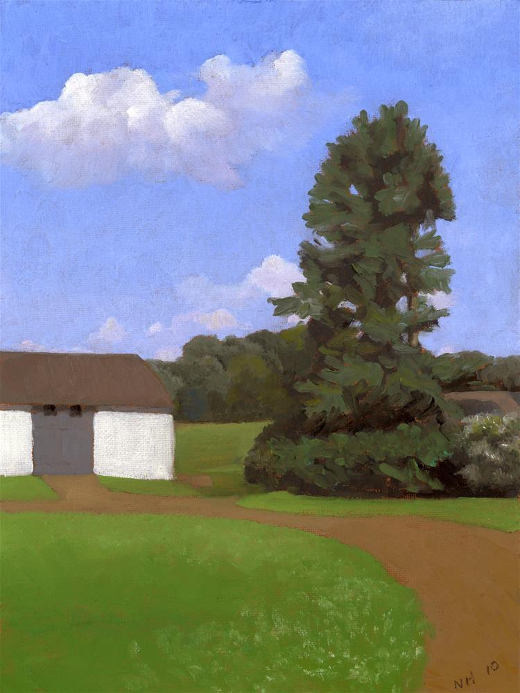 """""""SIMPLE OLD BARN"""" original fine art by Nancy Herman"""