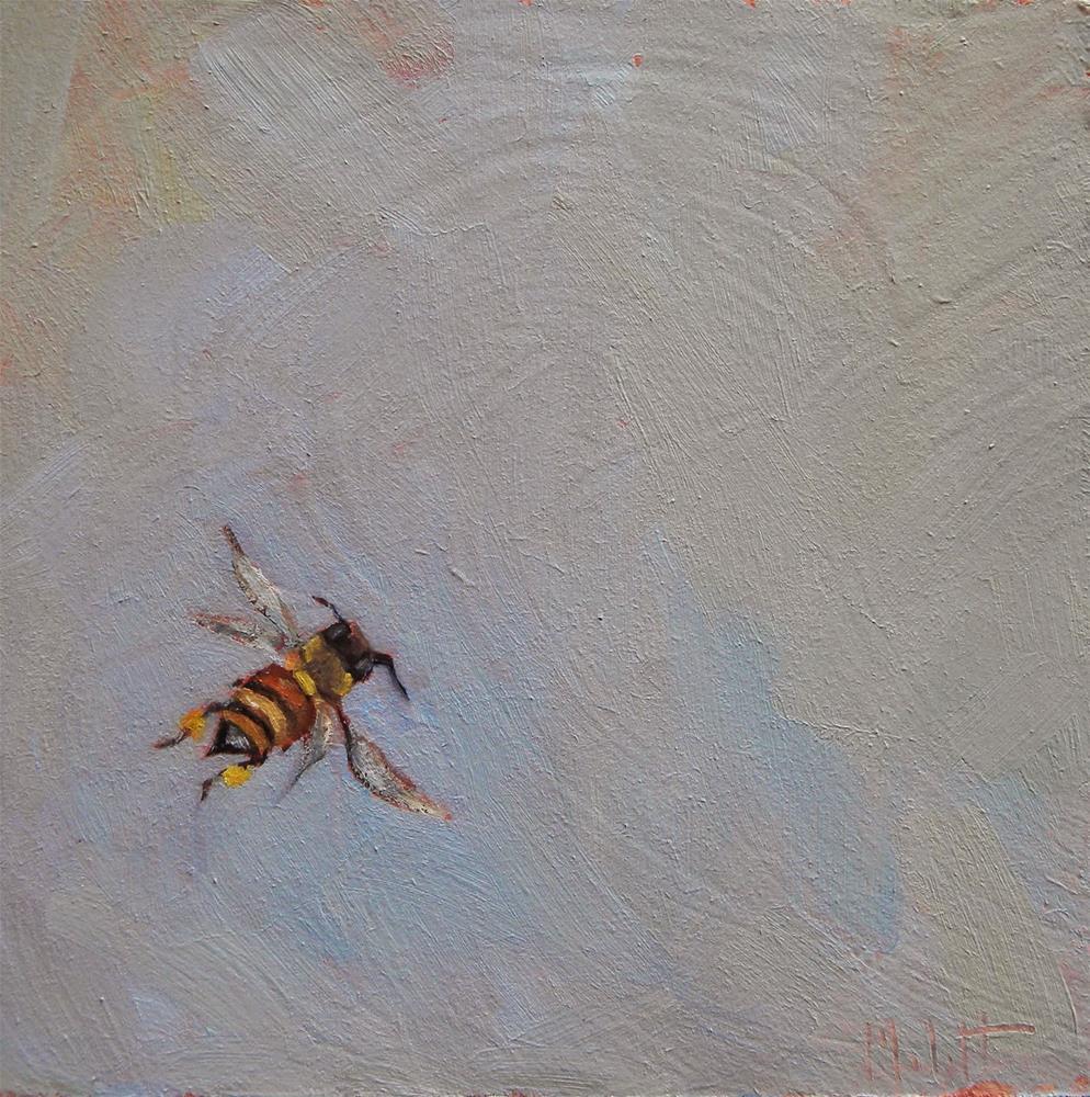 """Honeybee in the Garden Daily Painting Heidi Malott"" original fine art by Heidi Malott"