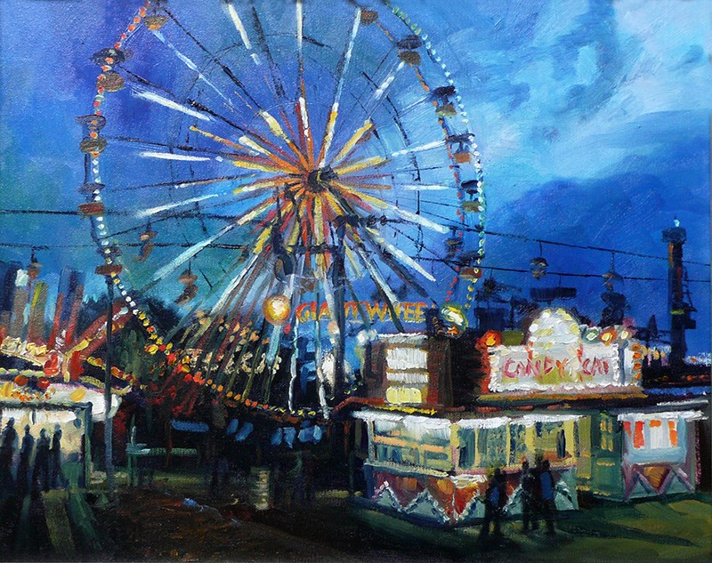 """Night At The Fair"" original fine art by Susan N Jarvis"