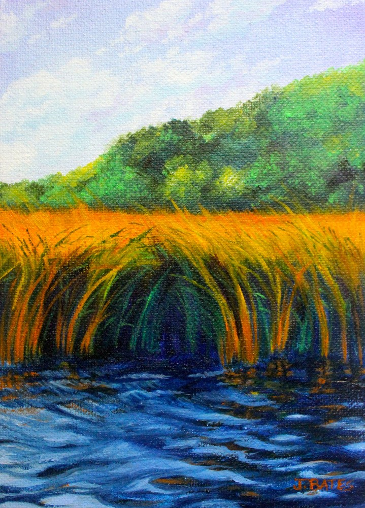 """A Good Place To Cast"" original fine art by Jill Bates"