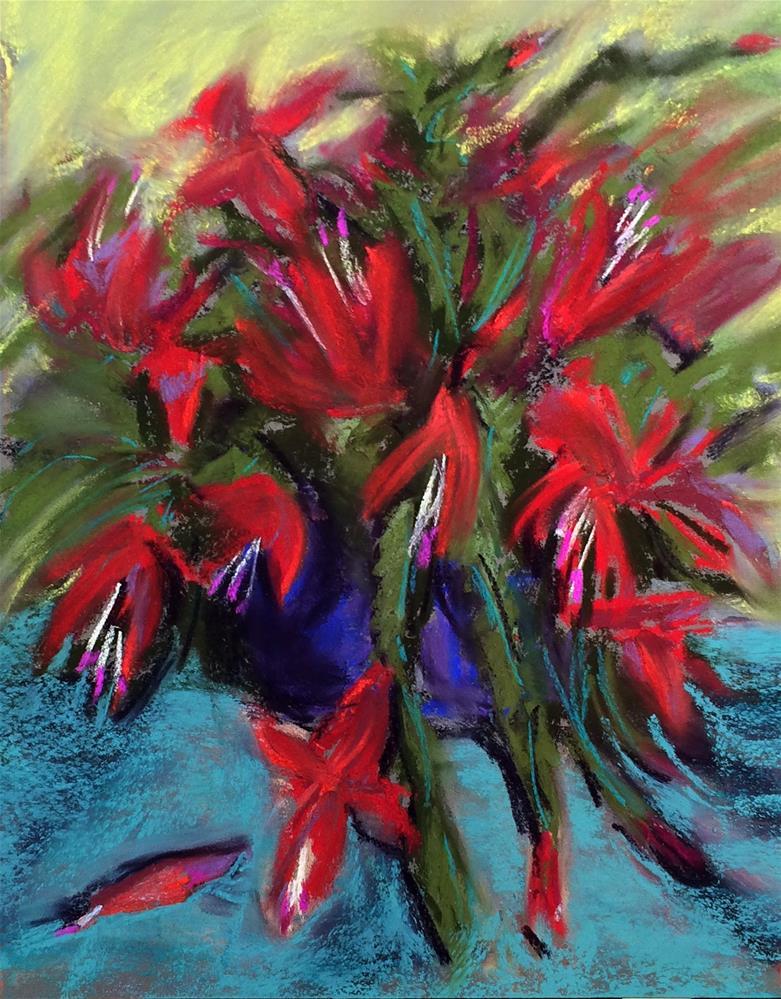 """""""Christmas Cactus, Not"""" original fine art by Cristine Kossow"""