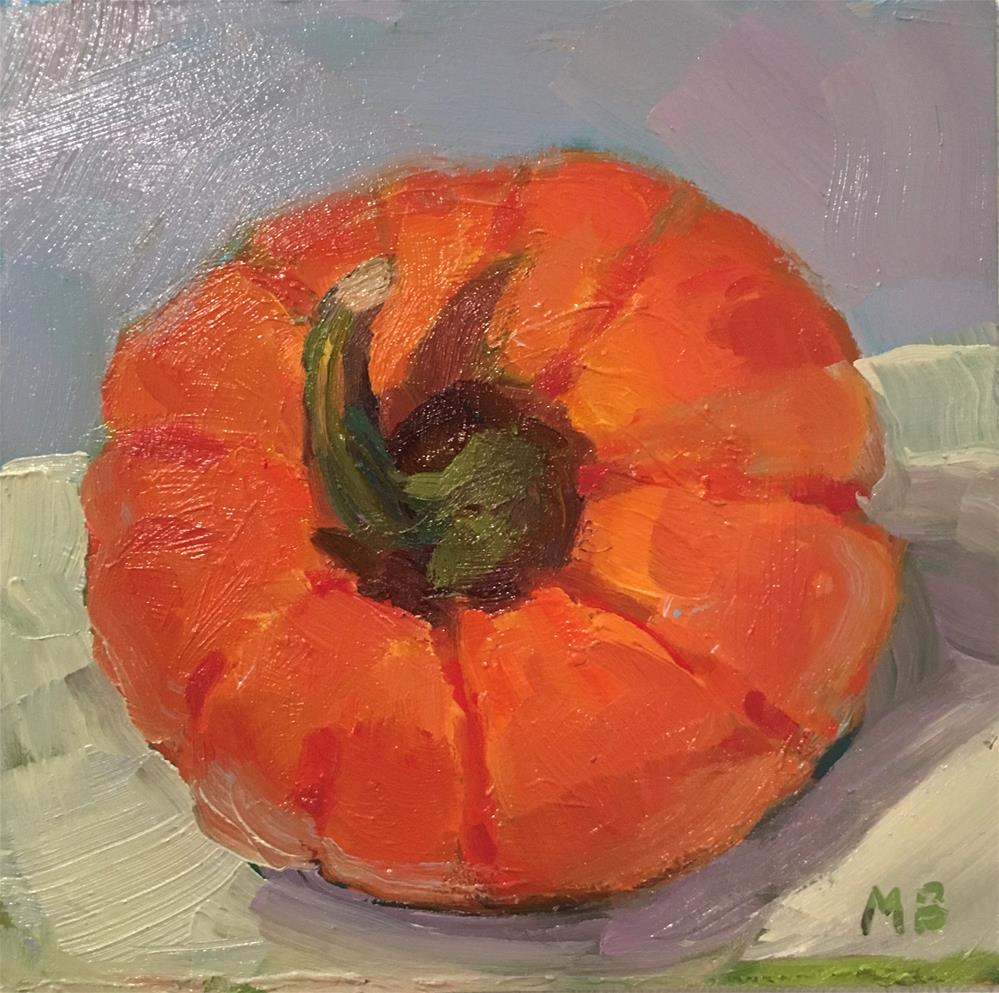 """Pumpkin Head"" original fine art by Marcia Bergtholdt"