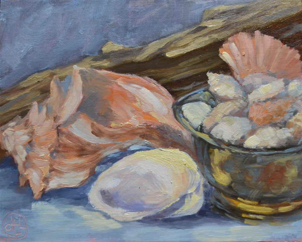 """gathered treasures"" original fine art by Dottie  T  Leatherwood"