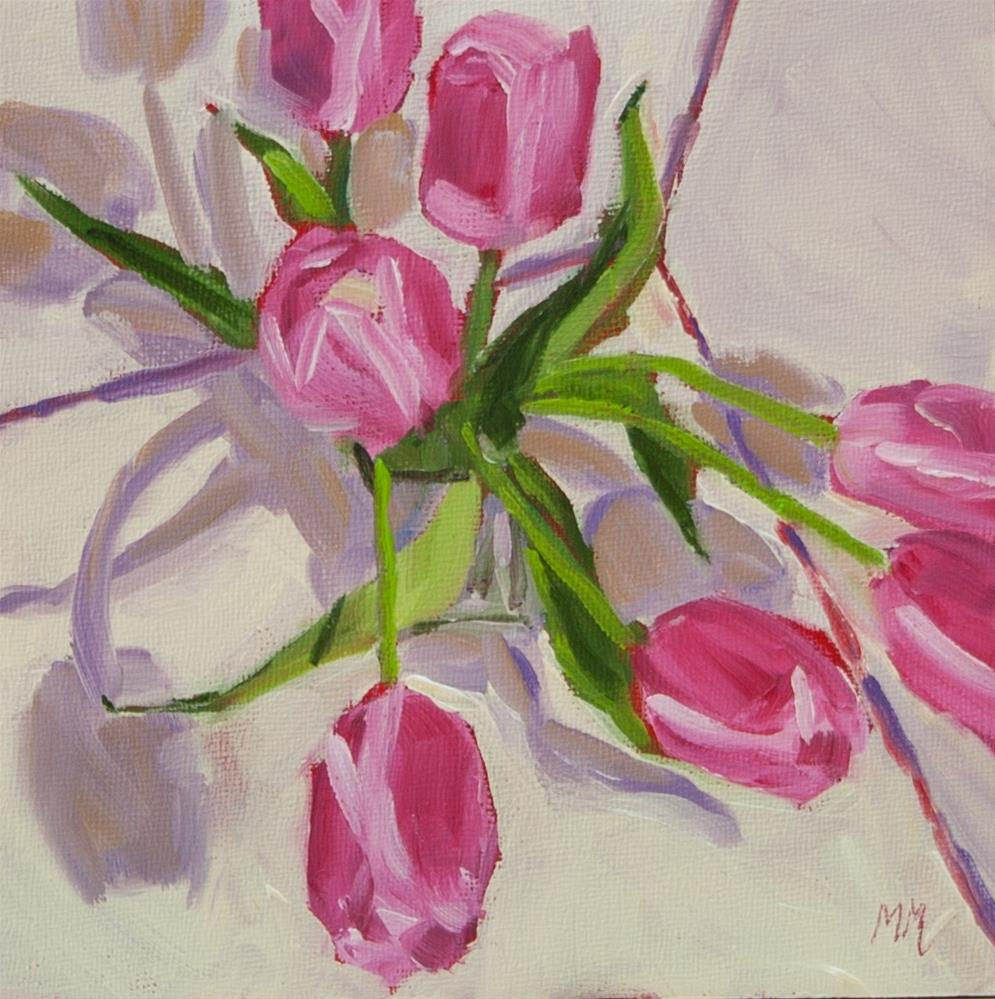 """Pink and Shadows"" original fine art by Maria McNitt"
