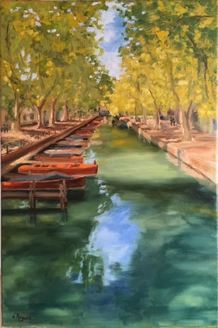 """Annecy"" original fine art by Karen D'angeac Mihm"