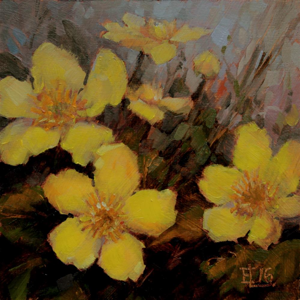 """Kingcups"" original fine art by Emilia Leinonen"
