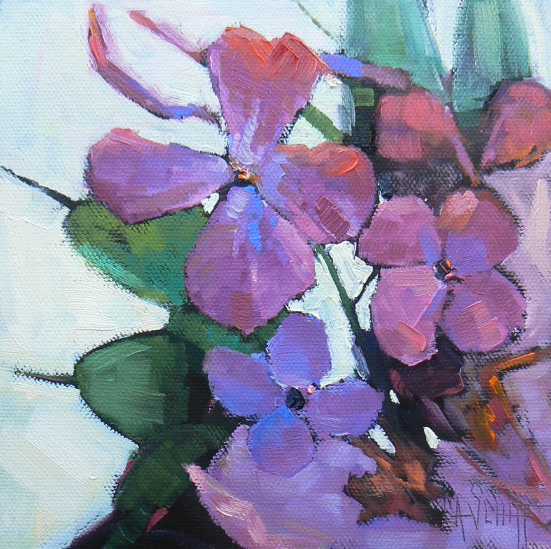 """Flowers of North Carolina"" original fine art by Carol Schiff"