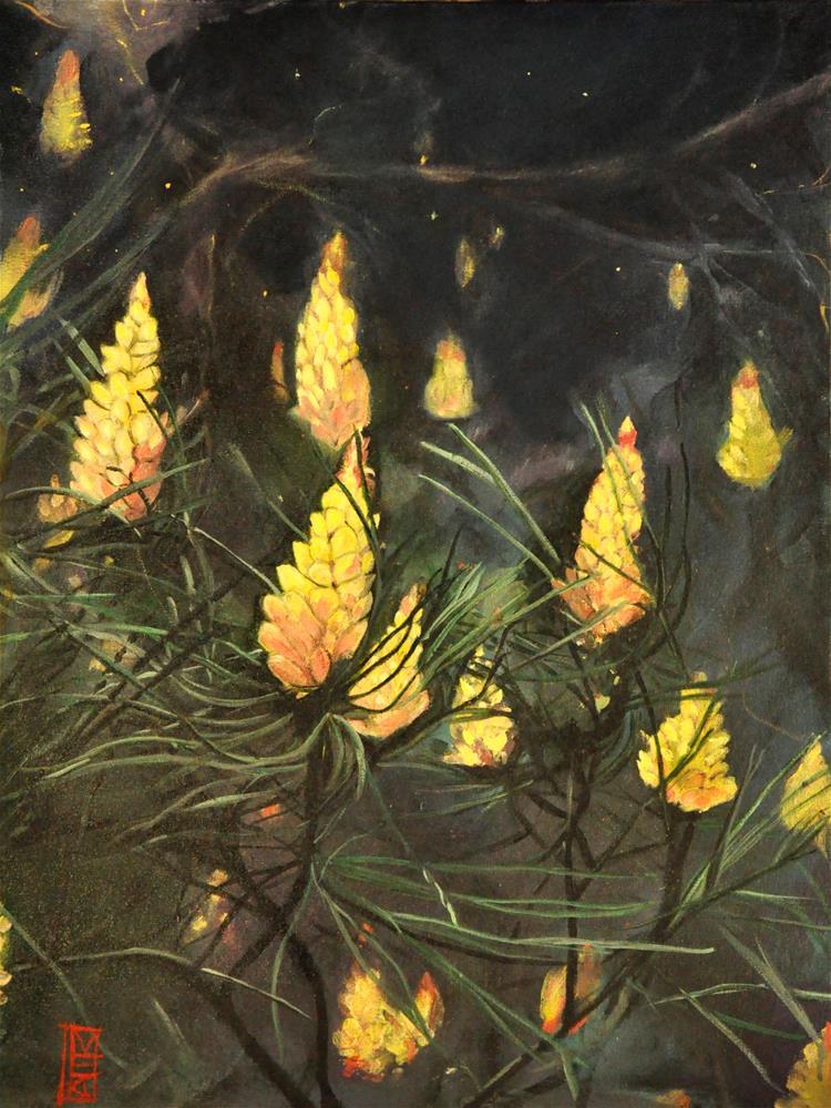 """""""Flowering Pine"""" original fine art by Margot Cole"""